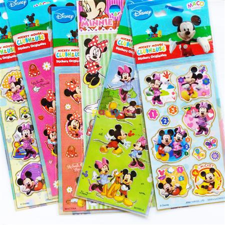 Planchas de stickers surtidas Mickey y Minnie 10u