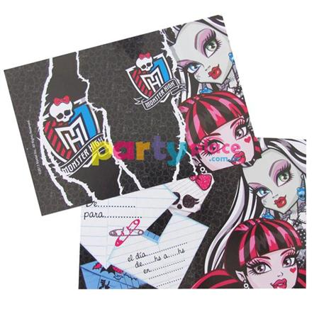 Invitaciones Monster High 10u