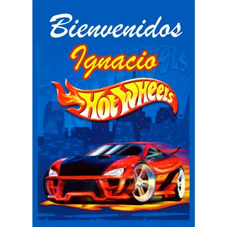 Afiche cartel Hot Wheels Personalizado